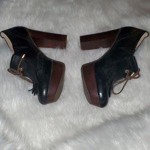 Sperry Topsiders S. 9 M Black Leather Heels